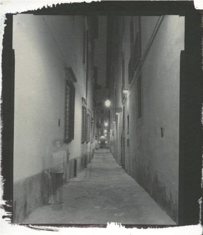 Alley, Florence, 2014, salted paper print