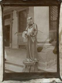 Street Performer, Florence, 2014, albumen print